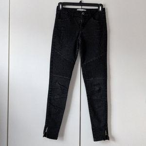 Zara moto jeans